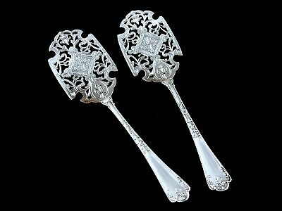 Antique French Sterling Silver PUIFORCAT Fer de Lance Dessert Pastry Set Box 19C