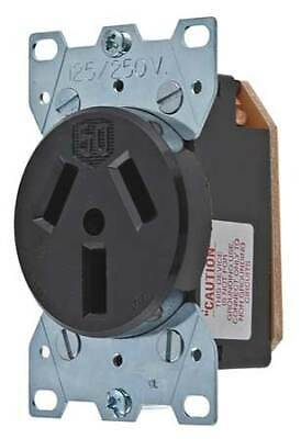HUBBELL WIRING DEVICE-KELLEMS HBL7962 50A Single Receptacle 125/250VAC 10-50R BK