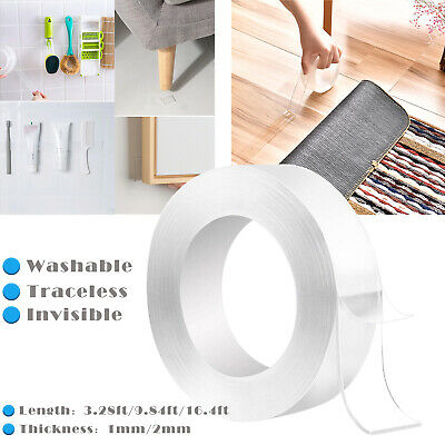 Magic Double-sided Grip Tape Traceless Washable Adhesive Clear Nano Invisible US