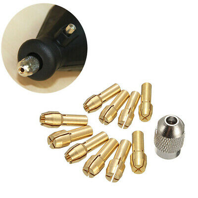 10Pcs Brass Drill Chuck Collet Bits 0.5-3.2mm 4.8mm Shank For Rotary Tool