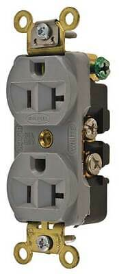 HUBBELL WIRING DEVICE-KELLEMS HBL5352GY 20A Duplex Receptacle 125VAC 5-20R GY