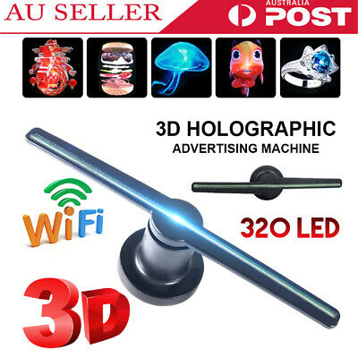 3D 320 LED WiFi Holographic Hologram LED Fan Projector Display Advertising Fan