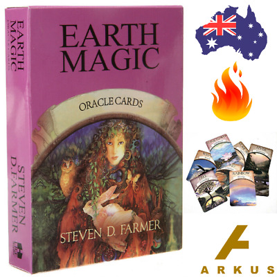 EARTH MAGIC Oracle Cards - 48 Card Deck by Steven D Farmer IC Reading Spirit NEW