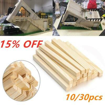 Pine Square Wooden Rods Sticks Wooden Dowel for Building Model Woodworking