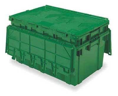 BUCKHORN AR2717120204000 Attached Lid Container, 2.25 cu. ft., Green