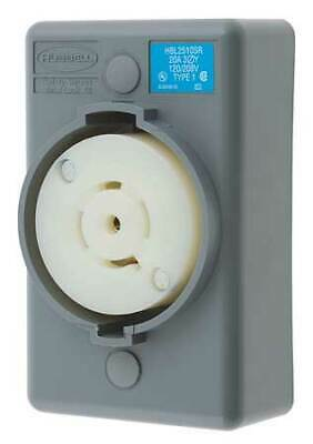 HUBBELL WIRING DEVICE-KELLEMS HBL2510SR 20A Locking Receptacle 4P 5W 120/208VAC