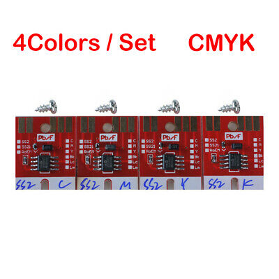 Permanent Chip for Mimaki JV3 SS2 Ink Cartridge 4 Colors CMYK with Screws New