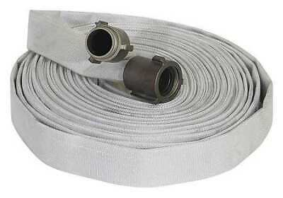 FOREST-LITE G55H1F50N Wildland Fire Hose,Dia. 1 In,50 ft,White