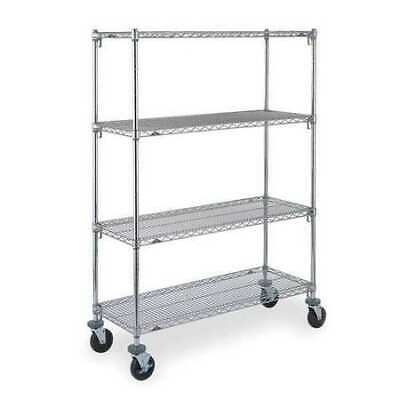 METRO CART 4B Adjustable Shelf Wire Cart,24 In. W