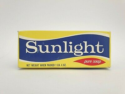 Vintage SUNLIGHT SOAP Cardboard packet unopened, NOS, vintage packaging, Grocery