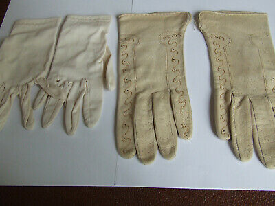 2 two pairs of 1930-1940`s ladies gloves fancy dress party