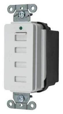 HUBBELL WIRING DEVICE-KELLEMS USB4W 20A Duplex USB Charge Receptacle 125VAC
