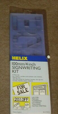 Helix 4 inch 100mm  Signwriting Kit Letter Stencils