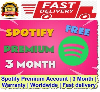 Spotify Premium Account   3 Month   Warranty   World wide   Fast delivery