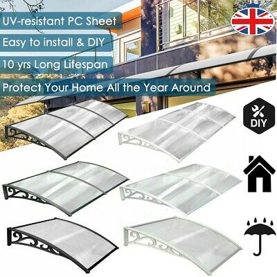 Home Canopy Roof Shelter Awning Shade Rain Cover Porch Front Back Outdoor Patio