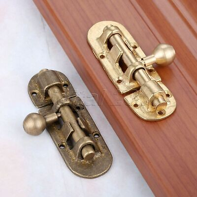 Brass Cabinet Door Bolt Gate Tower Barrel Latch Drawer Surface Security Catch