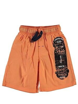 Name it Kinder Bade-Shorts Nitzak K Bade-Hose Jungen Club orange kurz Sommer NEU