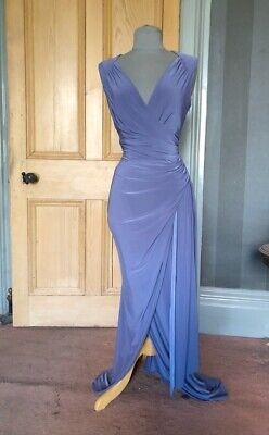 Gorgeous Phase Eight Long Lilac Grecian Evening Dress, Size 10