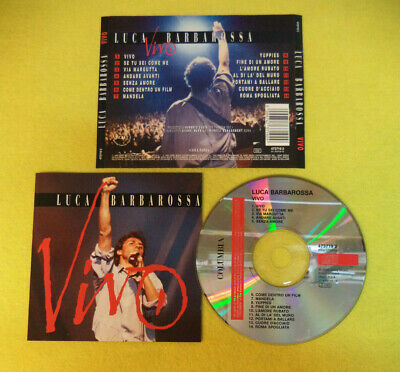 CD LUCA BARBAROSSA Vivo 1993 Holland COLUMBIA 473719 2 no lp mc dvd (CI14)
