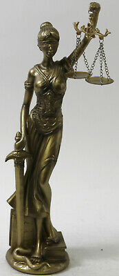 Goddess Themis Statue Figurine Scales Of Justice Sculpture Blind Lawyer Figurine