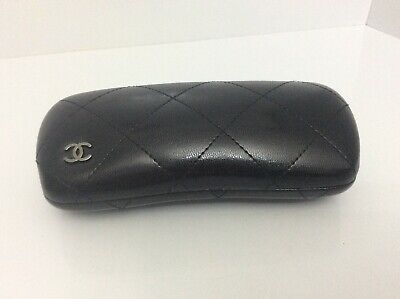 CHANEL Black Quilted Glasses Case VG Condition (j)