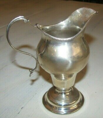 Antique English Sterling Silver Cream Pitcher On Stand 114 Gr. W.h.sparrow Maker