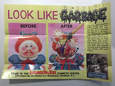 1986 USA Garbage Pail Kids POSTER 14 : Before & After