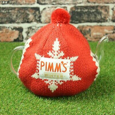 Pimms Winter Glass Microwave 1 Litre Teapot and Cosy