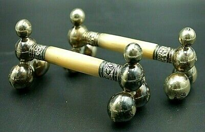 Antique Silver Plated And Mother Of Pearl Cutlery Rests