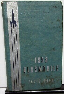 1953 Oldsmobile Data Facts Book De Luxe 88 Super Ninety-Eight Rocket Engine 53