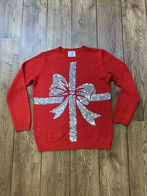 Kids Girls Christmas Jumper Age 12-13 Years George