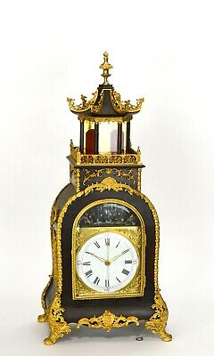 Fine Canton Workshop Chinese Automaton Acrobats Musical Pagoda Bracket Clock