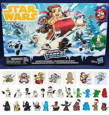 Star Wars MICRO FORCE ADVENT Calendar - 24 Figures STICKERS Holiday CHRISTMAS