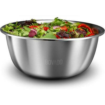 Stainless Steel Mixing Bowl Extra Large Heavy Duty 16 Qt Non Skid by Bovado USA