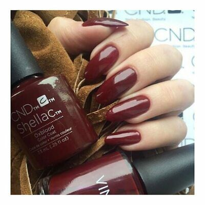 CND Shellac Oxblood Color UV Gel LED Top Nagellack Super Qualität