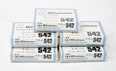 Filter Paper Number 542 Whatman, 24mm 2.4cm 100 per Pack 1542-324