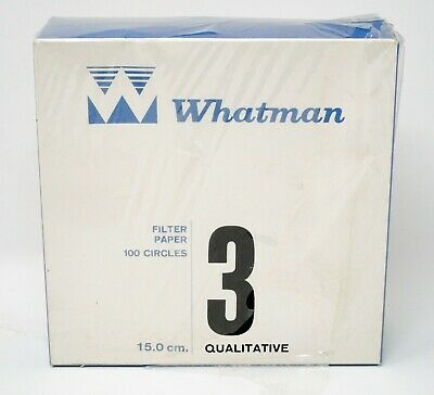 WHATMAN Grade 3 Qualitative Paper 150mm Diameter Pore Size 6um 1003-150 100/PK