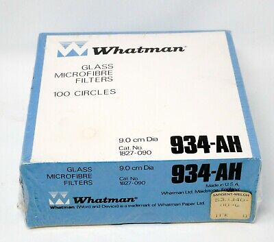Whatman Filters 934-AH 9.0cm/90mm/9cm (1827-090) Pack of 100 Circles
