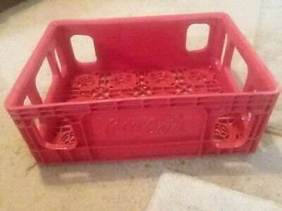 Coca-Cola Coke Red Plastic Crate Carrier 15 X 11 X 5