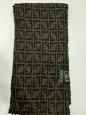 FENDI vintage Brown/Black scarf in a good condition