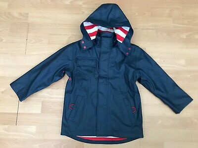 HATLEY Waterproof Navy Fully Lined Boy or Girls Hooded Raincoat @ 6 - 7 Years