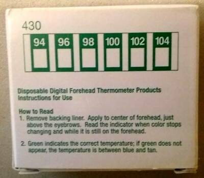 Disposable Forehead Thermometer, Box of 90. NEW. Free Shipping