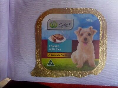 Australian Dog Food Foil Label Select Woolworth's Puppy  Chicken With Rice