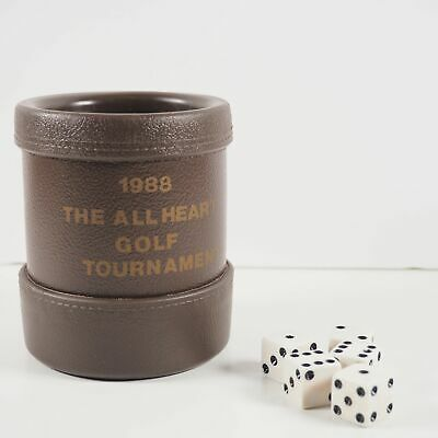 Vintage 1988 Luckicup Dice Cup w. Dice - All Heart Golf Tournament