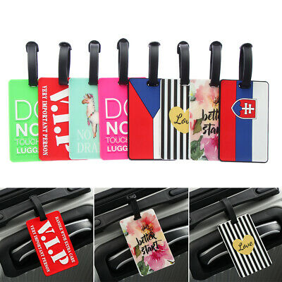 Rubber Luggage Tag Travel Suitcase Bag Id Tags Address Label Baggage Card Holder
