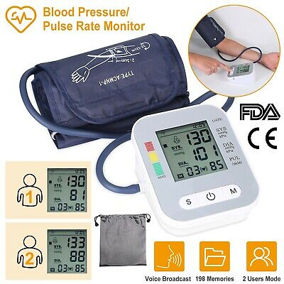 Full Automatic LCD Digital Arm Blood Pressure Monitor Tester with voice BP Gauge