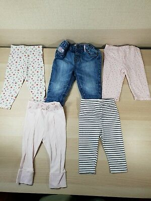 5x Baby Girls 6-9 Months Leggings/Jeans George Marks & Spencer M&S Next Floral