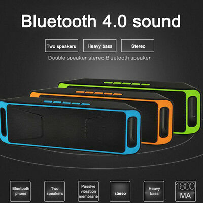SC-208 USB WIreless Bluetooth Portable Speaker Sound Stereo Subwoofer Support FM