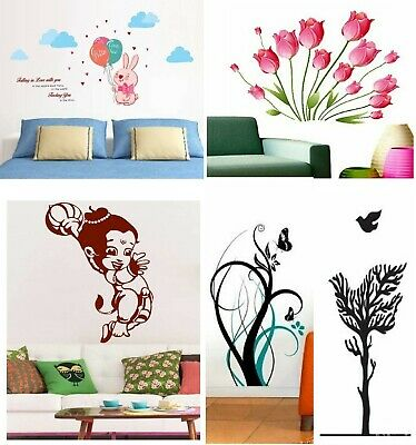 Wall Decor Decal Sticker Removable vinyl large branches Quote Love Flowers DC117