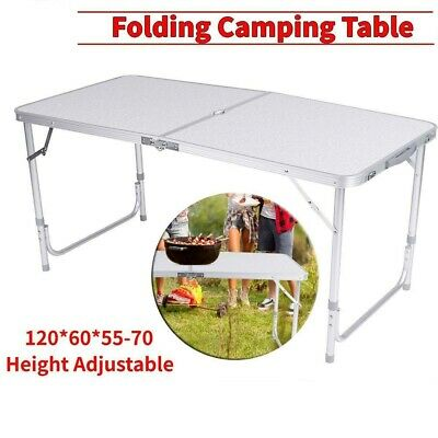 Portable Adjustable Folding Table Camping Outdoor Picnic Party BBQ Dining Desks